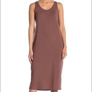 Philosophy Apparel Mocha Midi Tank Dress - S